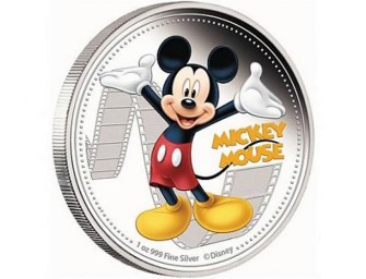 Real gold Disney characters and Queen Elizabeth coins minted in Nuie
