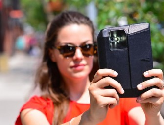 The Voye Clutch keeps your iPhone accessible at all times