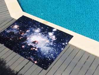Nebula Bath Towels and Rugs: Infinite Space on your bedroom floor