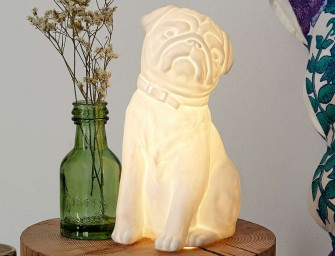 Plum & Bow Pug Table Lamp