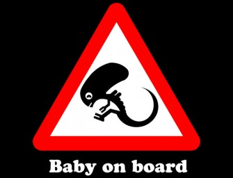Baby on Board T-Shirt by Dutyfreak May Scare Some