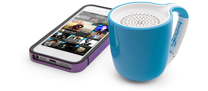 This Bluetooth Speaker will pep you like your morning Cup of Joe!