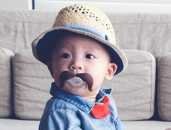 Moustachifier Baby Pacifier for Bad, Bad, Baby Boys