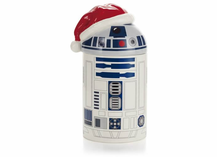 Caroling R2D2 Cookie Jar gives treats and hymns!