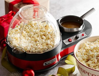 Waring Popcorn Maker with Melting Pot Makes Popcorn Dreams Come True