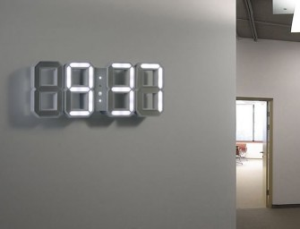 The White & White LED Clock by Vadim Kibardin: Simply time, nothing else!