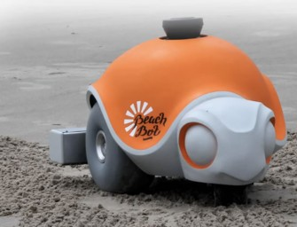 Disney's Beachbot creates Sprawling Images on Sand