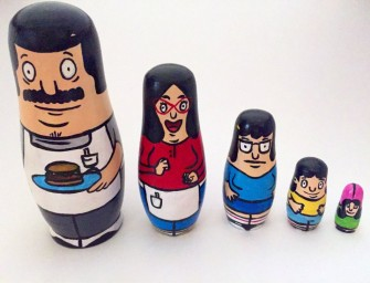 Bunch Of Cute Looking Bob's Burgers Nesting Dolls