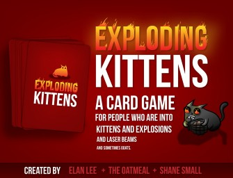 The Exploding Kittens Game: It's got kittens, laser beams and bombs; what's not to love!