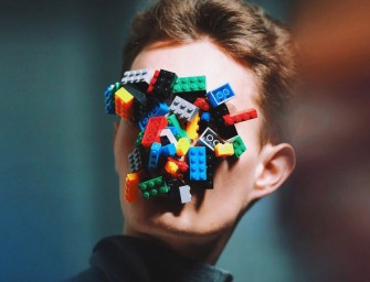 Isamaya Ffrench makes weird Lego Masks for agi & sam Fall/Winter 2015, and we love them!