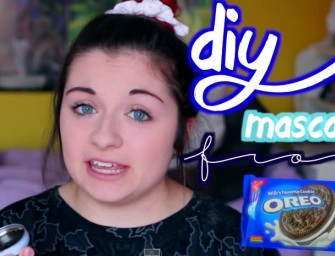 Mascara made out of Oreos, anyone?