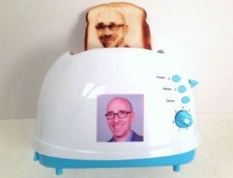 The Selfie Toaster: Breakfast with your own beautiful face; what can be better