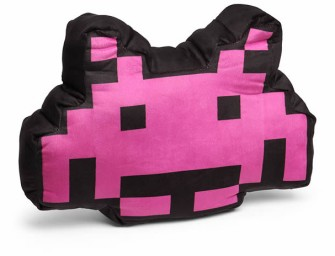 Cuteness Overload: Space Invaders Alien Crab 3D Cushion
