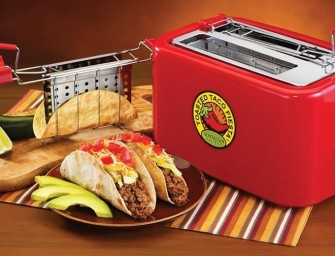 The BTS200 Fiesta Series Baked Taco Shell Toaster turns tortillas into hard taco shells