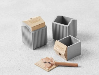 Tiny City Collection by TripleLiving: Soft concrete desk accessories brings the skyline to your table