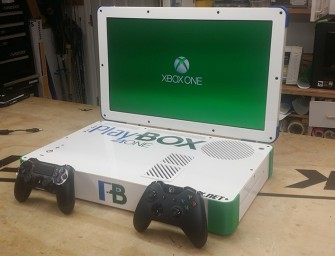 The Playbox: The Playstation 4 and XBOX ONE combined into one Laptop Case Mod