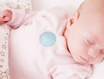 The MonBaby Wireless Smart Baby Monitor alerts you to changes in your baby's breathing while it sleeps