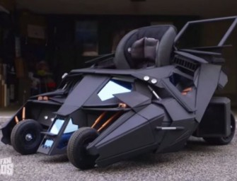 Batmobile Baby Stroller is for infants with superpowers!