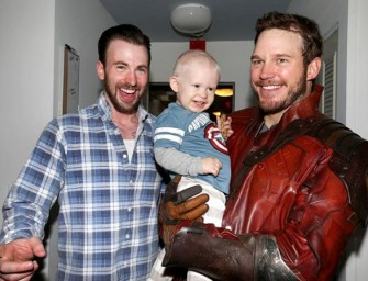 Chris Pratt visits children's hospital dressed as Star-Lord after losing Super Bowl bet with Chris Evans