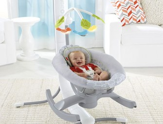 Fisher Price 4-in-1 Smart Connect™ Cradle 'n Swing Comforts Child and Parents Too