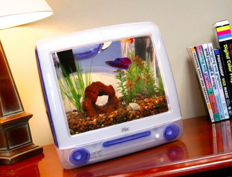 Up-cycled iMac computer turned into a beautiful fish tank