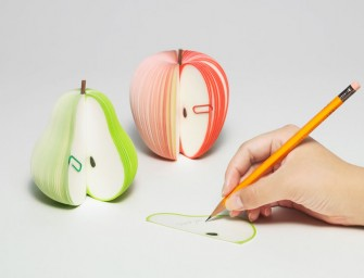 The Kudamemo Fruit Notepad: Like writing on slices of fruit