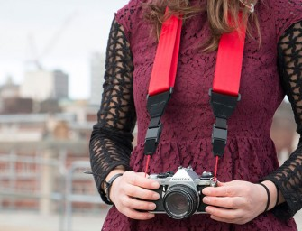 "The ""SHOOT"" Magnetic Camera Strap by Restrap: Attach, detach and shoot all in seconds"