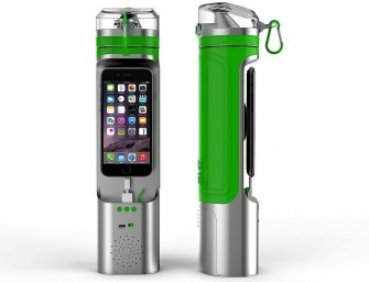 The Next Bottle will not only carry your water but also your iPhone 6, while also playing music!