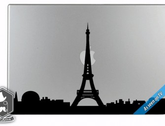 Paris in Love Decal beautifies your MacBook