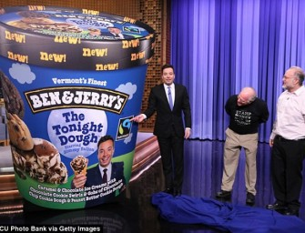 "Jimmy Fallon Gets a Ben & Jerry's Flavor Called ""The Tonight Dough"""