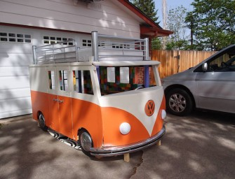 DIY VW Bus Bed Made by Loving Dad