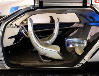The GAC WitStar driverless electric car comes with its own fish tank in the backseat armrest!