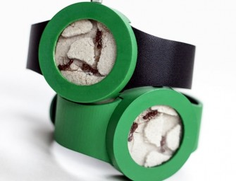 The Ant Watch: An ant farm that lives forever on your wrist