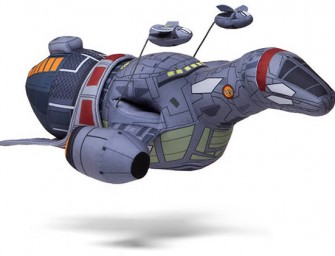 Firefly Serenity Plush Ship Floats Above the Rest