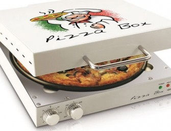 Give frozen pies a gourmet touch, with this Pizza Box Oven!