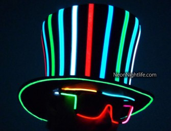 Light up the room with the Sound Activated Light Up Mad Hatter Top Hat