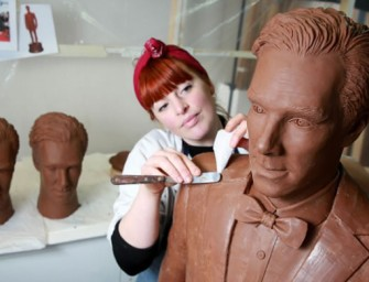 Chocobatch: Benedict Cumberbatch immortalized as a solid life-size Chocolate sculpture
