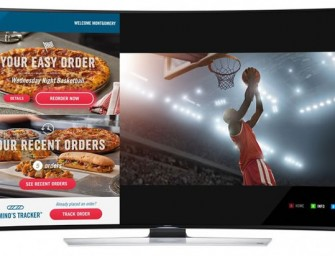 Order your Domino's Pizzas directly from your Samsung Smart TV