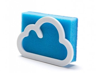 Cloudy sponge Holder for Clean Kitchens and a Little Sky
