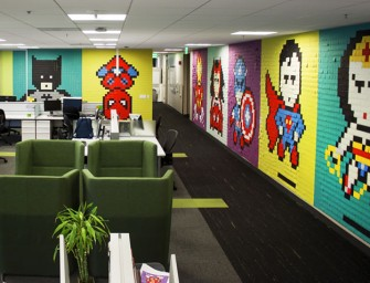 No More Dull Walls say Office Workers, Spruce Up with Superheroes