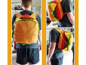 These Cheesburger bags are a delectable way to keep your stuff!