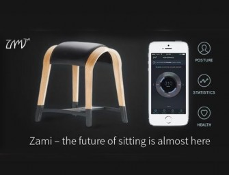 The Zami Life Smart Stool is the first Connected Sool; coaches you towards a healthier seating habit