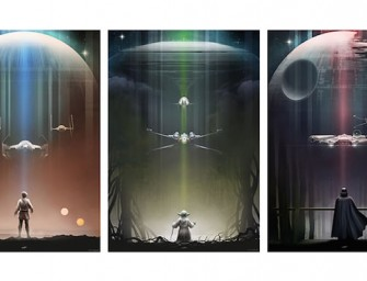 Artist creates beautiful Star Wars posters as tribute to original trilogy