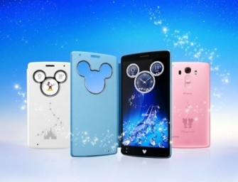 The Disney Mobile on DoCoMo DM-01G with Swarovski encrusted Mickey Mouse cover is a must have