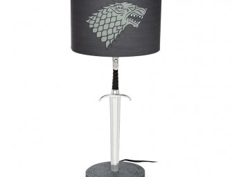 "The Game of Thrones Longclaw Desk Lamp: The ""Sword in the Darkness"" lights up your room"