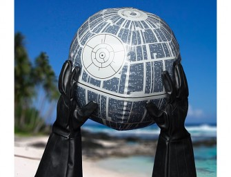 The Star Wars Death Star Light Up Inflatable Ball: A spaceship having a party