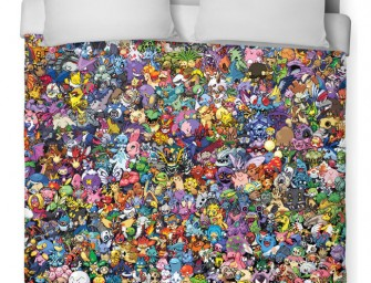 The Pokémon Collage Duvet Cover with every Pokémon character ever!