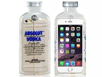 The Vodka Bottle Case for iPhone: The only time vodka prevents rather than causes dings and scratches