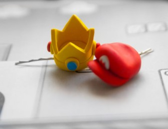 Bobby Pin Princess Peach Crown or Mario Hat: Wear your geekdom in your hair