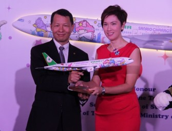 EVA Air's new Hello Kitty Shining Star Jet comes to Singapore for the first time